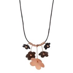 """Forget Me Not"" Upcycled Copper Necklace, $64, by Susan Harbourt"