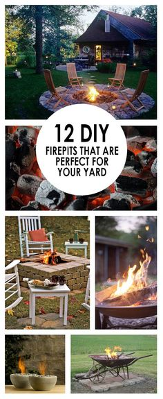 DIY fire pits, fire pit ideas, easy fire pit ideas, popular pin, outdoor…