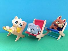 How to make LPS accessories: a beach chair - YouTube