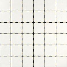 Zeus Unglazed White Squares Mosaic 2x2