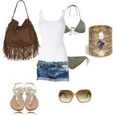 water https://lunadizucchero.wordpress.com/ #moda #fashion #design #outfit #glamour #italy #blog #style  #lunadizucchero #abbinalo #green #bag #orange #sea #beach #summer by lunadizucchero on Polyvore featuring moda, Splendid, CO, Paul & Joe Sister, Mystique, AllSaints, Juicy Couture and Gucci