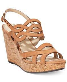 Adrienne Vittadini Camber Platform Wedge Sandals