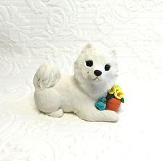 Samoyed Dog Sculpture Samoyed gift Samoyed art Polymer Clay