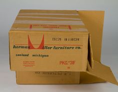 A 1952 box for an Eames DCM, by #hermanmiller