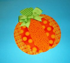 Halloween Applique PDF TEMPLATE Pattern ONLY Layered Pumpkin....New