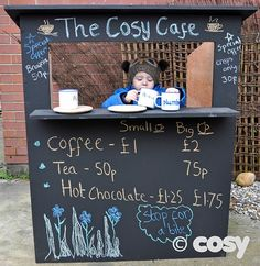What are you selling today? This fantastic kiosk is perfect for role play of all kinds. Create a shop, a ticket office, a post office, a petrol station, a cafe.Children will love chatting through the hatch too. Blackboard painted for added writing