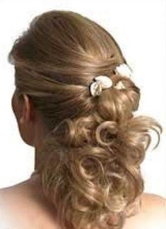half up half down hairstyles for mother of the bride - Google Search