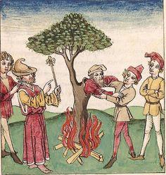 Antonius <von Pforr> Buch der Beispiele der alten Weisen — Oberschwaben, um 1475 Cod. Pal. germ. 466 Folio 80r