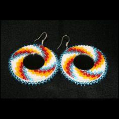 Swirl Earrings with Mirror