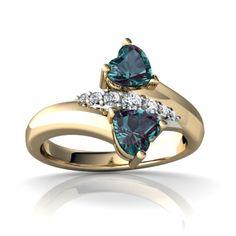 Unique Alexandrite engagement ring.