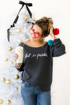 Excuse us while we take a break to order these cute+cozy sweatshirts @stephsterjovski.  #linklove