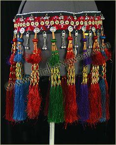 Tribe Nawaar Royal Tassel Belt 1 Colorful Silk Tasseled Tribal Belly Dance Belt