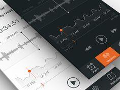 Sleep Tracker UI, Part 2 by RamotionTwitter|Facebook|Pinterest|Behance