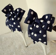 Hey, I found this really awesome Etsy listing at https://www.etsy.com/listing/262610030/polka-dot-bow-shoe-clipswedding-shoe