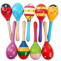 Agooding Mini Wooden Ball Musical Instruments Maracas Set of 4 ** You can get additional details at the image link.Note:It is affiliate link to Amazon.
