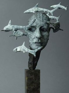 Philip Wakeham is a sculptor living and working in Lifton, Devon, UK.Philip explains his work by saying, Sculpture Head, Bronze Sculpture, Lion Sculpture, Art Textile, Contemporary Sculpture, Paperclay, Fish Art, Animal Sculptures, Types Of Art