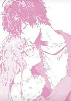 Akira and Futaba! SQUEEEEE Manga Love, Anime Love, Pink Aesthetic, Aesthetic Anime, Manga Rosa Pink, Manga Art, Manga Anime, Manga Couple, Pink Art