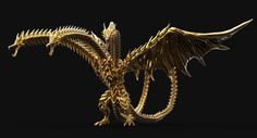 The Dude who Doodles — Planet Eater King Ghidorah Fan art model by. All Godzilla Monsters, Godzilla Toys, Godzilla Figures, King Kong, Weird Creatures, Fantasy Creatures, Aliens, Japanese Monster, Creature Concept