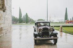 Vintage car. Wedding in Lisbon - Portugal www.comobranco.com @marryinportugal #comobranco