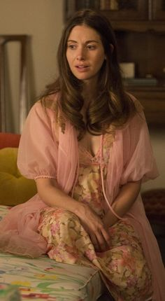 Trudy Campbell's lovely floral nightgown and matching robe in Season 7 of Mad Men