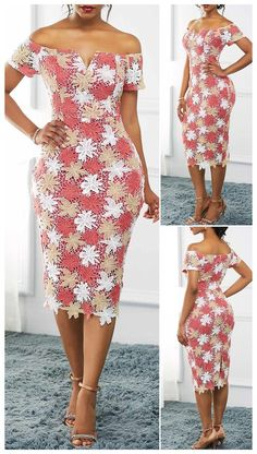 Short African Dresses, Latest African Fashion Dresses, African Print Fashion, Women's Fashion Dresses, Dress Outfits, Prom Dresses, African Print Dress Designs, Lace Dress Styles, Dress Lace