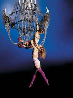 """""""Chandeliers"""" at Cirque du Soleil's Corteo"""
