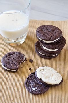 """DIY Homemade Oreo Cookies  Posted in Cookies, Desserts, DIY, Kid Friendly, Sandwich Cookies    Homemade Oreos 5You've heard me say it more than once.  I love making cookies for the neighborhood kids.  It's easy to do since they are out and about, running past my dining room window every day.  They even sometimes knock on my door asking for cookies (and popsicles) and it breaks my heart when I have to say """"no"""".  The other moms reassure me that it's okay to not give their kids treats every day… bu"""