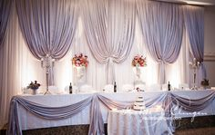 Draping  does beautiful things to a room  Wedding Backdrops | Toronto | Muskoka