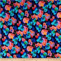 Liberty of London Dufour Jersey Knit Lily Pad True Purple