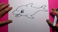 como dibujar un delfin - YouTube