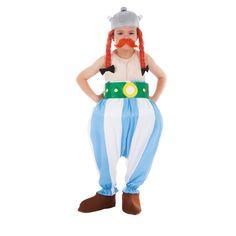 Ce déguisement de Obélix© sous licence officiel Astérix© est composé d'une combinaison, d'une ceinture, de surchaussures, d'un casque avec tresses et d'une moustache. Disponible en taille 104cm, 116 cm, 128 cm, 140 cm, 152 cm. La combinaison est composée