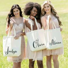 personalized totes for your bridesmaids and bridal party!