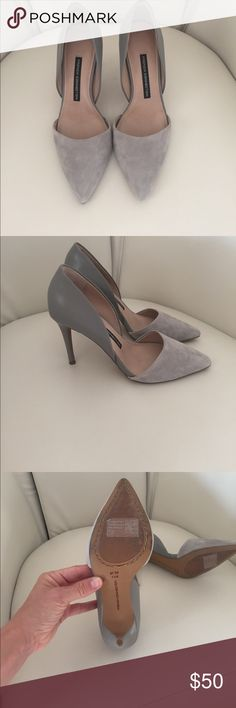 French connection size 7 gray pumps French connection silver pumps never worn. French Connection Shoes Heels