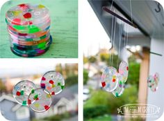 Grandparents Day craft idea: Melted Bead Sun Catchers-I'm Feelin' Crafty-WindchimeLittles