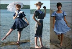 recollections- victorian-edwardian-swimwear.jpg (424×286) sailor suit style bathers