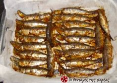 Sardines marinated in mustard and ouzo Greek Recipes, Fish Recipes, Seafood Recipes, Finger Food Appetizers, Appetizer Recipes, Food Network Recipes, Cooking Recipes, Sardine Recipes, Greece Food