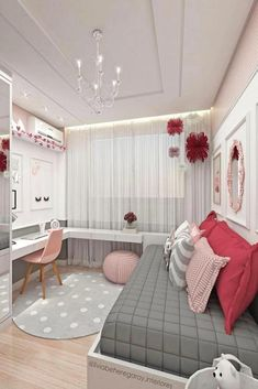Teen Girl Bedrooms - incredibly super sweet teen girl room tips and tricks. Hungry for other inspiring teen room styling designs please visit the pin to study the post idea 2440572225 immediately Bedroom Decor For Teen Girls, Teenage Girl Bedrooms, Girl Bedroom Designs, Teen Bedroom, Diy Bedroom, Comfy Bedroom, Girl Rooms, Bedroom Themes, Design Bedroom