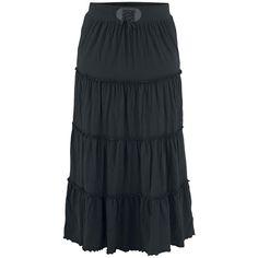 Tiered Skirt - Langer Rock von Black Premium by EMP