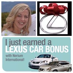 That REALLY did just happen!! Pinch me!! Earned my FREE Lexus in under 5months as a  Nerium Brand partner!