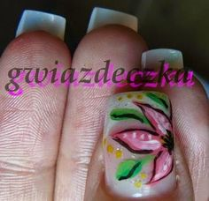 Paznokcie żelowe malowane farbkami akrylowymi http://esteraowczarz.blogspot.com/2014/04/paznokcie-kilka-cwiczen-wzorkow.html