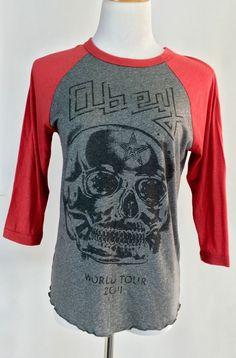 OBEY Andre the Giant Retro Vintage raglan baseball t shirt women's Small skull #OBEY #Raglan