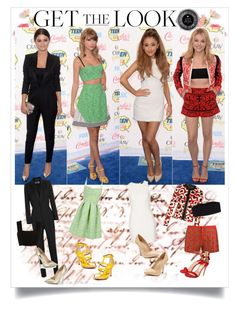 """Get Them Look: Teen Choice Awards 2014 Red Carpet Style"" by farrahdyna ❤ liked on Polyvore featuring Yves Saint Laurent, Jimmy Choo, Related, Donald J Pliner, Topshop, Maiden Lane, Gucci, Monki, AnhHa and Salvatore Ferragamo"