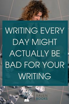 Feeling stressed by the pressure to write every day? I think needing to write every day is a myth! Check out the reasons why! Fiction Writing, Writing Advice, Writing A Book, Writing Prompts, Write Every Day, Writer Tips, Self Publishing, Writing Inspiration, Feeling Stressed