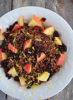 Sweet Red Quinoa Porridge -- and no sugar in sight! Just wholesome fruit and sweet spices.