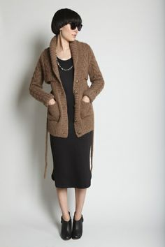 vest dress & shawl cardigan