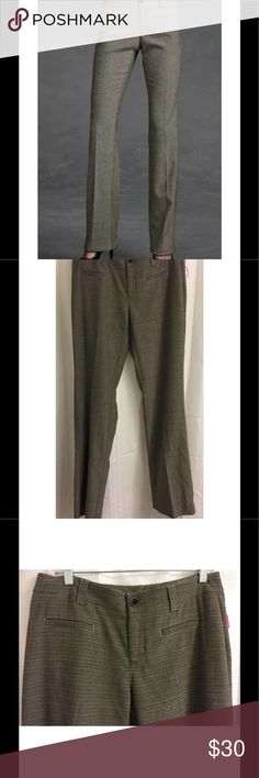 """New CAbi Barrister Trouser Tweed Career Pants CAbi Barrister Trouser Pants $98 Gray Tweed 8 Long Style #177L Work Career  New With Tags - Originally retailed for $98 Fabric Content - 64% Polyester/34% Rayon/2% Spandex Black, Gray & White woven threads make up a gray tweed color Approximate Measurements: Waist - 16.5"""" across Hips - 18-19"""" across Inseam - 34"""" Rise - 9"""" Cuff - 9.5"""" across CAbi Pants Trousers"""