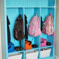 DIY Storage Lockers for Kids -- No Mudroom? No problem! {OneCreativeMommy.com} http://ana-white.com/2010/09/locker-cabinet-fresh-home-magazine