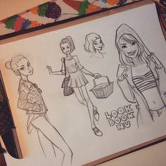 Лукбук чего-то скучный стал. Или был? #sketching #girls #lookbook