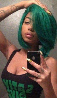 This green hair is fierce...