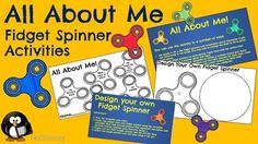 Download these All About Me activities with a fidget spinner theme! Ideal for end of year or back to school! The pack contains activities that can be used in the following ways: 1. An All About Me sheet for pupils to fill in the sections of the fidget spinners with pictures or